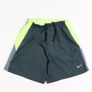 Nike Dri-Fit Color Block Lined Running Shorts Gray